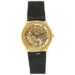 Audemars Piguet Yellow Gold Rare Skeletonized Ultra-Thin Automatic Wristwatch
