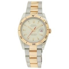 Rolex Rose Gold Stainless Steel Turn-O-Graph Datejust Wristwatch Ref 116261