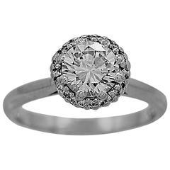 Tacori 1.05 Carat Diamond Platinum Engagement Ring