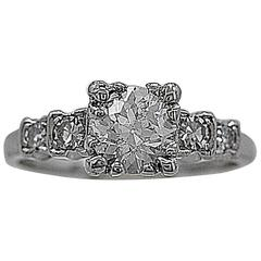 1930s .84 Carat Diamond Platinum Engagement Ring