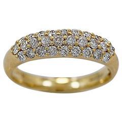 .75 Carats Diamonds Gold Wedding Band Ring