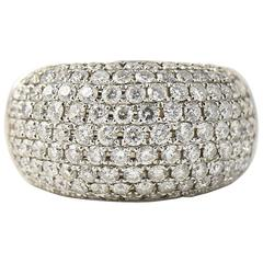 Pave Diamond Gold Bombe Ring