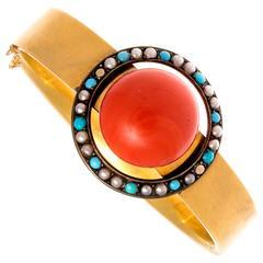 Victorian Coral Gold Bracelet