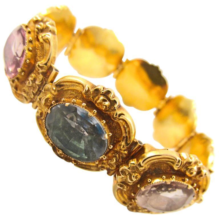 Gold and Rock Crystal Bracelet Circa 1830
