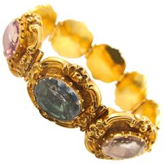 Gold and Rock Crystal Bracelet Circa 1830