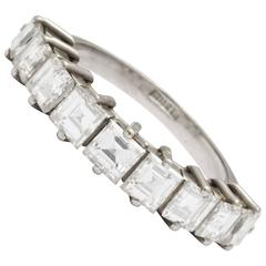 Beaming Nine Square Cut Diamond Band, 21st Century
