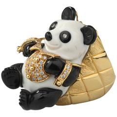 Eva Segoura White Opal Onyx Diamond Gold Panda Ring