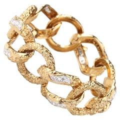 1970s M. Gerard Paris Diamond Gold Bracelet