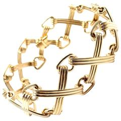 Tiffany & Co. Schlumberger X and Triangle Link Gold Bracelet