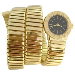 "Bulgari Ladies Yellow Gold ""Serpenti"" Quartz Wristwatch"