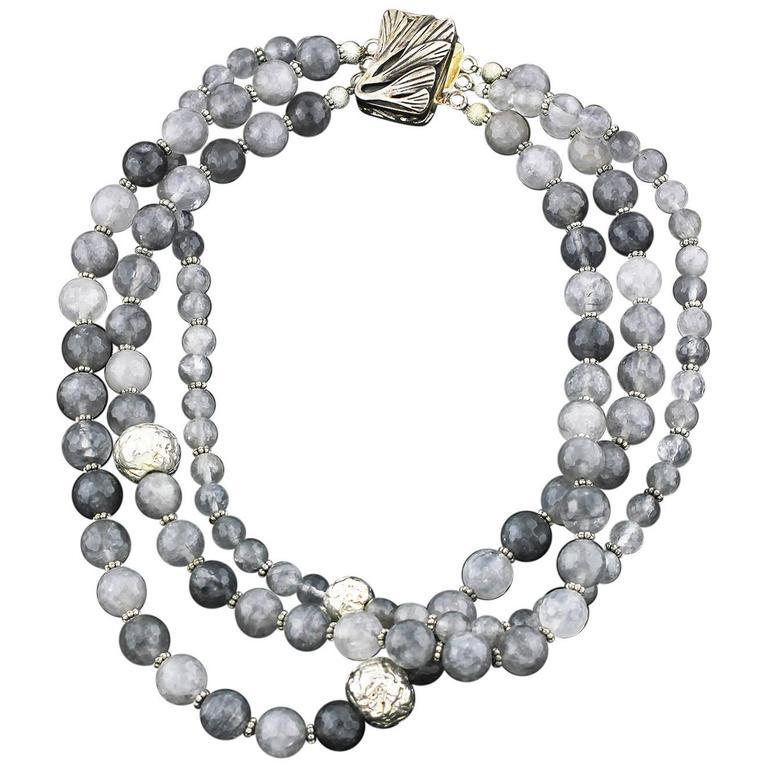 Rutilated and Dendritic Quartz Necklace