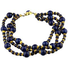Lapis Lazuli Blue Coral Necklace
