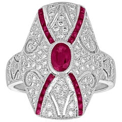 2.10 Carats Ruby Diamond Gold Ring