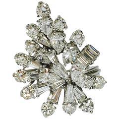 8 Carats Of Diamonds Platinum Cluster Ring