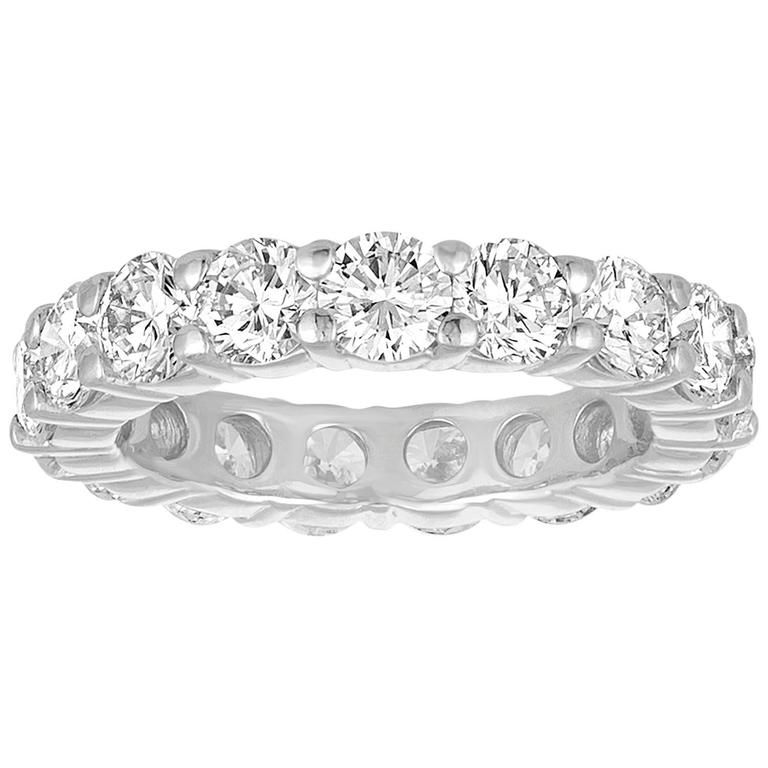 3.50 Carats Diamond Platinum Eternity Band Ring