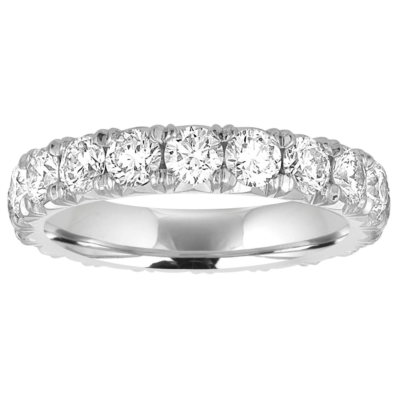 2.10 Carats Diamond Eternity Platinum Ring