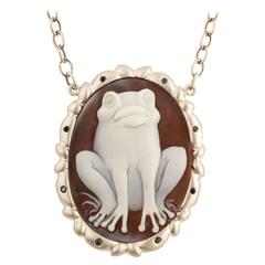 Amedeo La Rana Cameo Necklace
