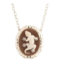 Amedeo Turtle Cameo Necklace