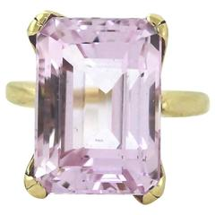 Pink Morganite Gold Ring