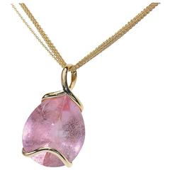 Samuel Getz Morganite Gold Pendant Necklace