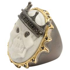 Amedeo King Skeledeo Cameo Ring