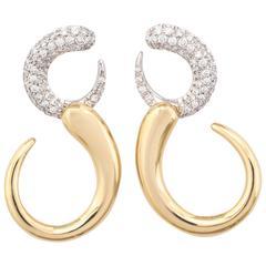 Faraone Mennella Gocce Diamond Gold Earrings