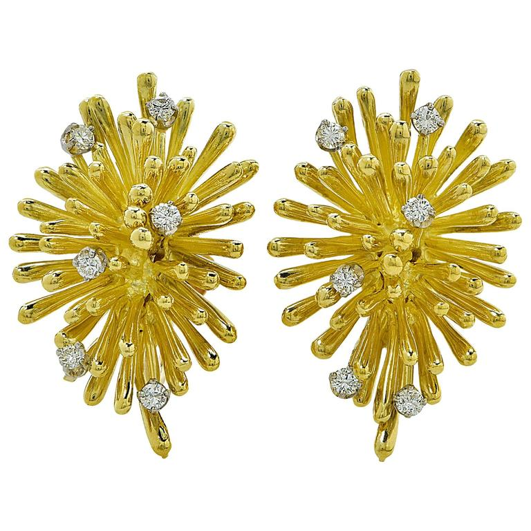 Diamond Gold Earrings 1