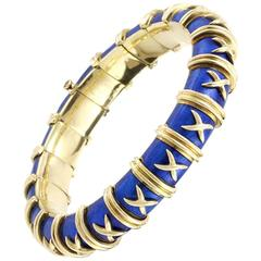 Tiffany & Co. Schlumberger Gold and Enamel Croisillon Bracelet