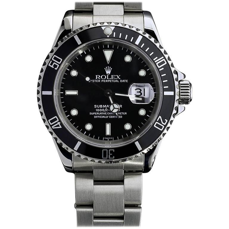 Rolex Submariner Black Steel