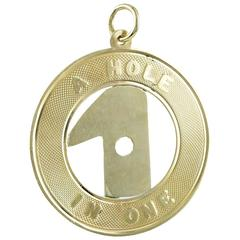 A Hole in One Gold Charm
