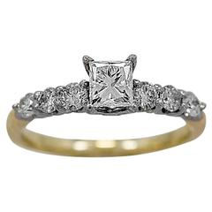 .53 Carat Diamond Two Color Gold Engagement Ring