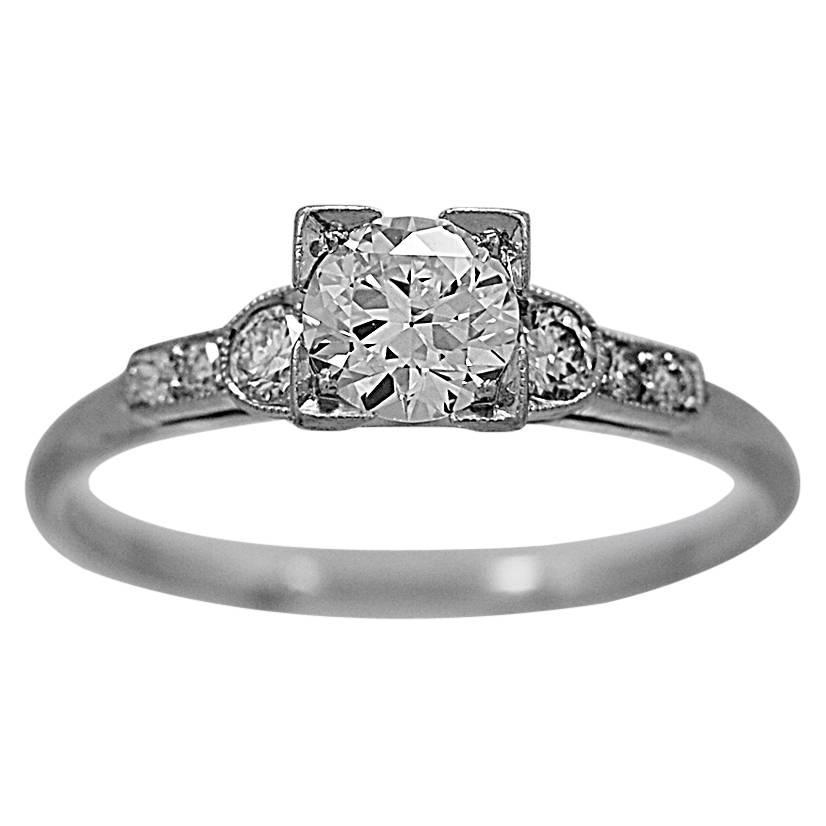 bailey banks and biddle 51 carat platinum ring