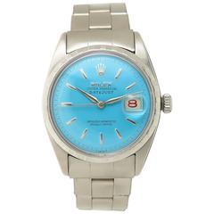 Rolex Stainless Steel Custom Dial Datejust Automatic Wristwatch