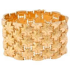 1950s Italian Wide Gold Bracelet