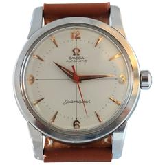 Omega Stainless Steel Seamaster Crosshair Dial Wristwatch