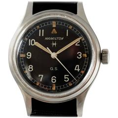 Hamilton Stainless Steel Tropical Military Wristwatch