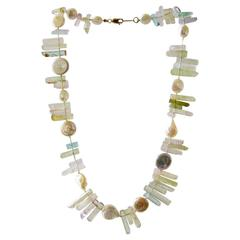 Allison Stern Natural Crystal Mother of Pearl Necklace