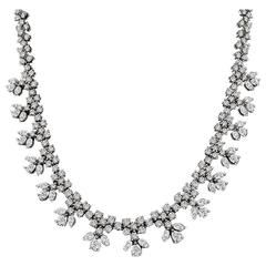 Amazing 20.44 Carats Diamonds Platinum Necklace