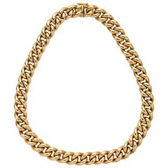 Italian Gold Curb Link Necklace