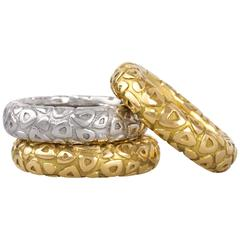 Chaumet Yellow and White Gold Stacking Rings