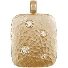Colleen B. Rosenblat  Diamond Gold Pendant