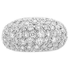 Cartier Diamond Pave Gold Bombe Ring