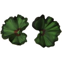 JAR Geranium Leaf Earrings