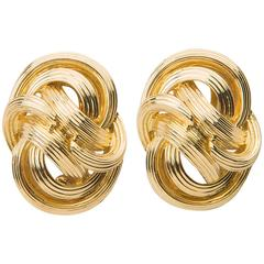 Tiffany & Co. Woven Gold Earrings