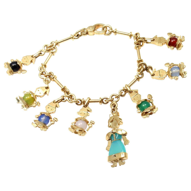 vintage charm bracelets for sale in new york 1stdibs