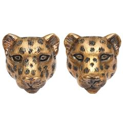 Michael Kanners Unique Bronze Leopard Cufflinks