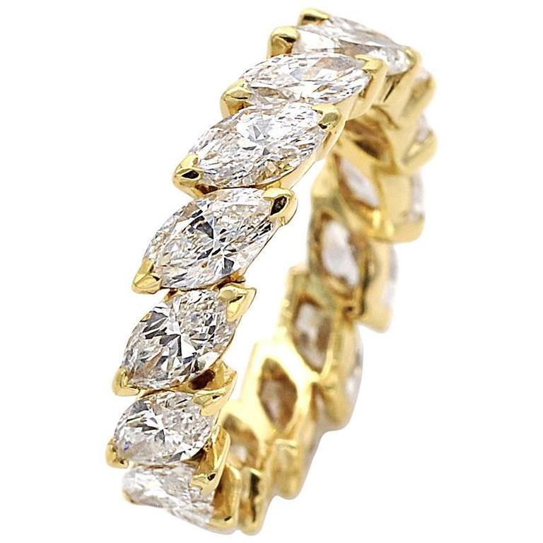 Marquise Cut Diamond Eternity Ring