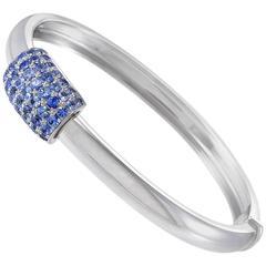 Piaget Blue Sapphire Gold Bangle Bracelet