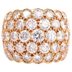 Stylish Diamond Gold Dome Ring