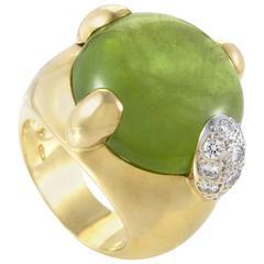 Pomellato Peridot Diamond Gold Ring